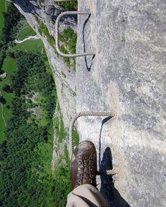 Klettersteig zwischen Mürren und Grimmelwald