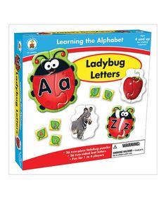 We have these abd love them!  Ladybug Letter Puzzle Set #zulilyfinds