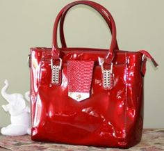Red Patent Leather Handbag – Jewels Handbag Collection