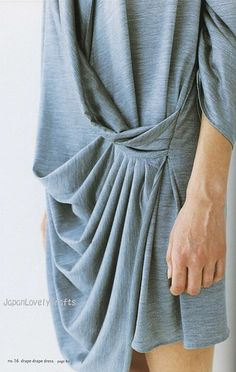 DRAPE DRAPE 1 BY HISAKO SATO - JAPANESE SEWING PATTERNS BOOK - ELEGANT AND GORGEOUS DREPE DRESS PATTERN 13
