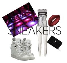 """""""Untitled #168"""" by fearymelek on Polyvore featuring Haider Ackermann, Giuseppe Zanotti, Paco Rabanne and Lime Crime"""