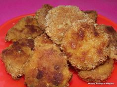 toddler food chicken, lentil and vegetable patties