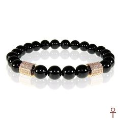 Black Onyx Gemstone Men Bracelet #black #onyx #gemstone #men #bracelet #menbracelet #menfashion