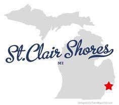 Map of St. Clair Shores Michigan MI