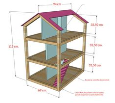 Ana White Build a Dream Dollhouse Free and Easy DIY Project and Furniture Plans Ana White, Woodworking Plans, Woodworking Projects, Woodworking Videos, Woodworking Jointer, Woodworking Classes, Woodworking Apron, Diy Furniture Plans Wood Projects, Youtube Woodworking