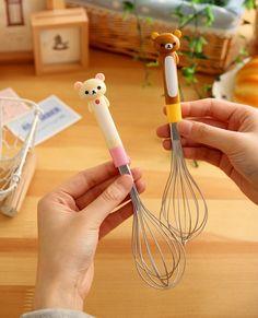 San x Japan Rilakkuma Hand Egg Cream Mixer Cute Relax Bear Kawaii Zakka Kitchen Cute Kitchen, Kitchen Items, Kitchen Utensils, Kitchen Tools, Kitchen Gadgets, Kitchen Decor, Cooking Utensils, Cooking Tools, Rilakkuma
