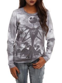 Pullover+top+from+The+Nightmare+Before+Christmas+with+a+Jack+stormy+sublimation+print.
