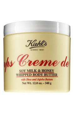 Kiehl's Since 1851 'Creme de Corps' Soy Milk & Honey Whipped Body Butter available at #Nordstrom