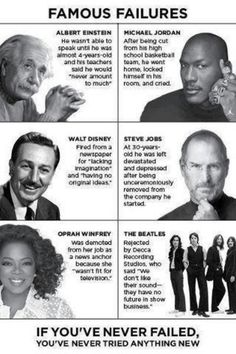 If you never failed, you've never tried anything new!