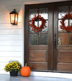 Give your front porch a fresh look for fall. Traci from Beneath My Heart reveals her painted front porch.