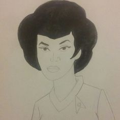 Lt. Uhura Star Trek Filmation Series Fan Art 1.0#filmationcartoonsfanart