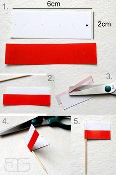 Znalezione obrazy dla zapytania jak zrobić mini chorągiewkę