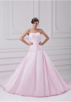 Elegant Satin Sweetheart neckline Crinkled Design lace Beaded A-line Chapel Train Wedding Dress_x000D_