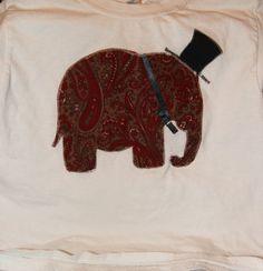 Fancy Elephant 2T4T shirt by HelgasHaberdashery on Etsy, $7.50