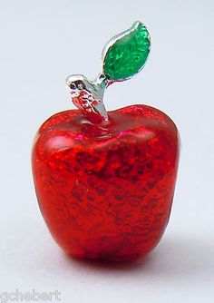 Red & Green Enamel & Sterling Apple Teacher European Large Hole Story Bead