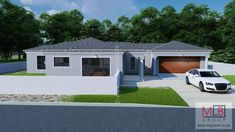 5 Bedroom House Plan - My Building Plans South Africa Round House Plans, Split Level House Plans, Square House Plans, Metal House Plans, My House Plans, My Building, Building Plans, House Roof Design, House Plans South Africa