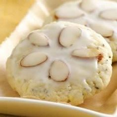 """Almond Poppy Tea Cookies 