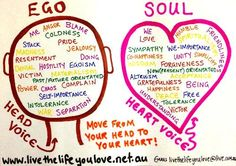 Operate from the soul, not ego ...