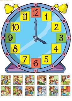 Preschool Worksheets, Preschool Learning, In Kindergarten, Preschool Activities, English Activities, Time Activities, Kids Education, Special Education, Math Clock