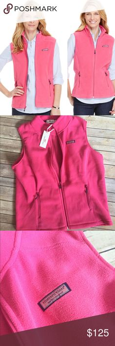 Large Vineyard Vines Westerly Vest NWT Vineyard Vines Westerly Vest; color is rhododendron (pink). Size Large. NWT. Product details listed. ***NO TRADES, PRICE FIRM & NO discussion about price in comments*** Vineyard Vines Jackets & Coats Vests