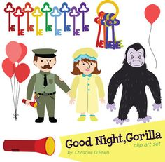 """Good Night, Gorilla"" Clip Art Set - use to accompany the book or any other zoo animal activity."