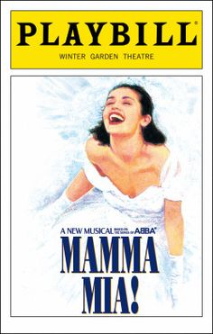 Mamma Mia! Playbill - Opening Night