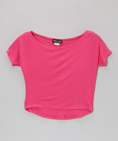 Loving this Hot Pink Dolman Tee on #zulily! #zulilyfinds