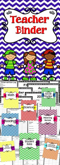 This Teacher Binder will be a great organizational tool for the classroom. #education