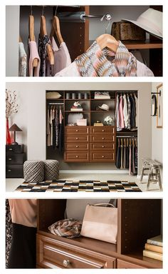 Even a reach-in closet can be breathtaking if you customize the space. Check out the NeuSpace online design tool to see how easy it is to design your own made-to-order closet storage with drawers, adjustable shelves, shoe shelves and more.