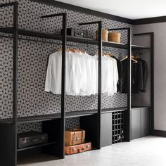 You are in the right place about bedroom storage videos Here we offer you the … - Modern Open Wardrobe, Wardrobe Design Bedroom, Diy Wardrobe, Bedroom Wardrobe, Closet Bedroom, Bedroom Storage, Wardrobe Storage, Closet Space, Dressing Room Closet
