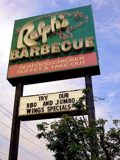 Ralph's Barbecue in Weldon, NC.