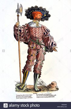 "Military, Lansquenets, Lansquenet, ""blacksmith"", Full Length Stock Photo, Royalty Free Image: 111309469 - Alamy"