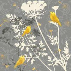 Cuadro Gray Meadow lace I