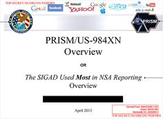 Electronic Police State Revealed: NSA Spy Program with Facebook, Google, Apple, Skype, and Others .