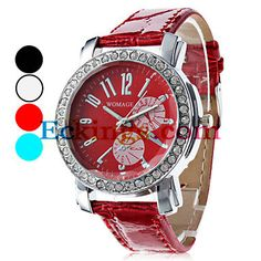 Women's Casual Style PU Analog Quartz Wrist Watch (Assorted Colors) : Online Shopping for Watches, Toys & more