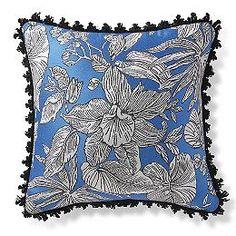 Bermuda Breeze Cobalt Outdoor Pillow
