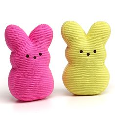 PEEPS KNIT PLUSH BUNNY - 9 INCH, pink, yellow, toys, children, kids, holidays,