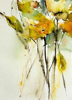 Yellow Painting - Yellow Explosie by Annemiek Groenhout