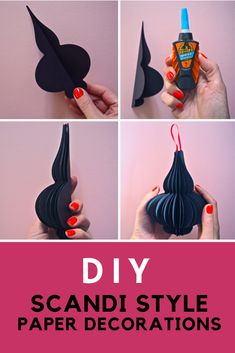 Step by step craft guide to create these Scandi Nordic style paper Christmas decorations. Christmas craft and DIY ideas. Scandi Christmas Decorations, Christmas Paper Crafts, Holiday Crafts, Christmas Crafts, Christmas Ornaments, Christmas Ideas, Craft Decorations, Christmas Christmas, Diy Decoration