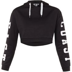 TOPSHOP East Coast cropped hoodie ❤ liked on Polyvore featuring tops, hoodies, jackets, sweaters, shirts, sweatshirt, cropped tops, shirt hoodie, shirt top and topshop tops