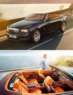 2016 Rolls-Royce Dawn - Powering the Dawn is the same twin-turbo 6.6-litre V12 used by the Ghost. The engine produces 563bhp at 5250rpm and 575lb ft at 1500rpm and drives the rear wheels through an eight-speed ZF automatic gearbox, which links with the sat-nav to automatically pre-select the next appropriate gear. The Dawn can get from 0-62mph in 4.9sec and reach a limited 155mph - On sale early next year, priced at about £250,000...x