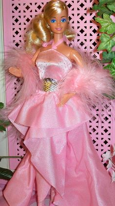 Barbie - Pink Jubilee / Party Pink Barbie, 1987  (not much of a fan of pink in general, but I loved the silky fabrics they used for her)