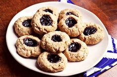 How To Have PB&J For Every Meal Today Without Getting Bored #refinery29  http://www.refinery29.com/national-peanut-butter-jelly-day#slide-6  PB&J Thumbprint CookiesAnother childhood favorite, thumbprint cookies, get a timely twist with jelly-filled centers.