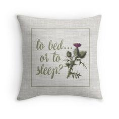 outlander scottish thistle Throw Pillow