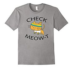 Amazon.com: Cute Check Meow-T Cat Lovers Workout Gift T-shirt: Clothing Great Gift For Kitty Lovers Exercise Walking Running Gym TShirt Motivational Funny Quotes Love Cats Graphic Tee