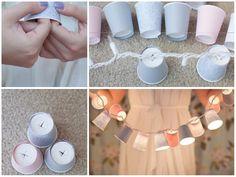 Dekorasyon Fikirleri | Karton bardaklardan aydınlatma. #Raykonsept #evinizehavakatın
