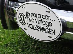 it's a vintage VW...