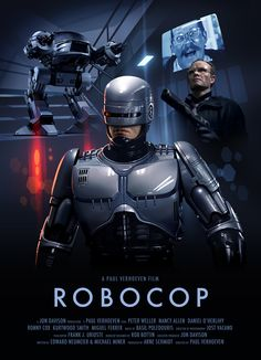 A slick poster for one of Verhoeven's finest productions — Robocop.