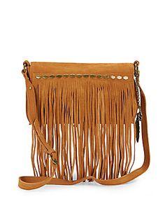 de0d61808e Nirvana Suede Fringed Shoulder Bag Nirvana