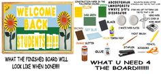 """LEARN HOW 2 MAKE THIS: """"QUICK BULLETIN BOARD IDEA 4 CLASSROOMS/DAY CARES 4 WELCOMING CHILDREN BACK 2 SCHOOL"""" AT MY TUMBLR: http://mkgtweety.tumblr.com/post/96605470545/hey-digital-peeps-mkgtweety-here-im-on"""